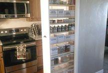 Pullout beside fridge