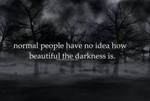 Darkness / Nightfall, dark stormy day, the blanket of comfort darkness brings.