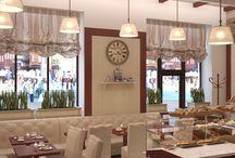 Дизайн интерьера кафе в современном стиле / Пожелания заказчика: дизайн интерьера кафе в современном стиле призван создать атмосферу сказочной европейской кондитерской.