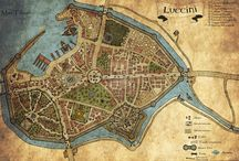 Fantasy maps / Illustrations of fantasy maps.