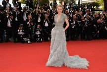 Pearls at Cannes 2015 / The perfect finishing touches to stunning dresses & decolletages at the annual film festivals.  Best to say it with pearls!