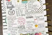 Happy Planner Inspiration / Happy Planner Weekly Setups, Stickers & everything else inspiring to make your Happy Planner as beautiful at it is productive