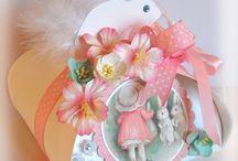 ~Inger Harding  Easter Bunny Treat Bags~ / Handmade Easter Treat Bags by Inger Harding.