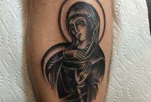 Religious Tattoos / Most tattoos here are *NOT* by us, but are done by other awesome tattooers!