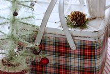 Plaid Pretties / I love warm flannel shirts and cozy wool blankets, especially when they are bedecked in pretty Tartan plaid. Like many others, I'm mad for plaid.