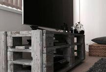 Meubles TV palettes