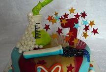 Science Birthday cakes