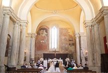 My Church weddings in Tuscany, Italy / Photos of international destination weddings in Tuscany with church ceremony and English or German-speaking celebrant arranged by Tuscan Tours and Weddings