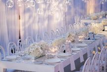 White Wedding Decor & Ideas / A collection of themes, decor, florals and ideas for the perfect White Wedding !