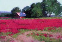 Pink field / Landscape