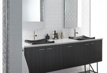 Kohler Vanity Program / Kohler Tailored Vanity Collection allows you to personalize your vanity and get the complete look you want. There are 5 collections: Jacquard, Jute, Damask, Marabou and Poplin.  •	Choose your exterior •	Choose your interior •	Choose your top •	Choose your coordinating components