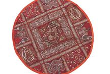 Round Floor Pillows / 26 inch Round Floor and Bed Pillow Covers from India
