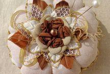 Pincushion / #ribbonwork,#flowerspincushion,#giftfordrandmouther,