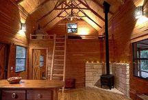 CUTE CABINS / Idea's for tiny homes/cabins.