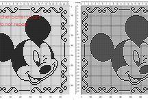 Disney crochet filet pillows cushions patterns / Disney crochet filet pillows cushions patterns