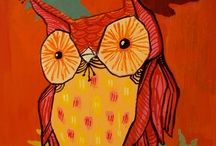 Here by the owl...