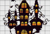 Halloween (punto croce e casa)
