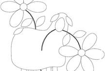 Sheep drawing applique
