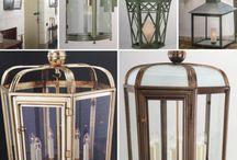 Lights Galore / Lighting Lanterns in bronze, verdigris, nickel, brass  Ceiling light, floor light, table lamp....