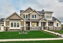 Spring 2014 Parade Home / Custom contemporary craftsman home designed and built by Boise Idaho home builder Clark and Co. Homes. Winner of 6 Boise Contractor Association awards: Best Exteriors, Best Interior Design and Finish, Best Kitchen, Best Master Suite, Most Energy Efficient, and Best Overall