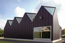 Belgium: Offices and private house in Sint-Denijs-Westrem / Offices and private house, Sint-Denijs-Westrem (Belgium) by ARLAUSKAS Arunas & EECKELS Armand, Technique: VMZ Standing seam-VMZ Joint debout, Aspects: ANTHRA-ZINC®   #Architecture #Roofing #Zinc #VMZINC #AnthraZinc #Façade #Offices #PrivateHouse #Belgique #Belgium