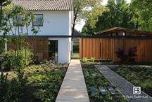 Tuin en Architectuur / Combinaties van moderne architectuur en  tuinarchitectuur.