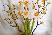 kwiaty z koralików