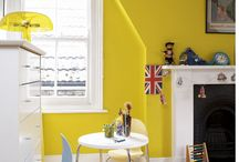 Kids' Rooms - Yellow / Bright and cheerful children's rooms using yellow as a base colour or accent, with a few yellow accessories thrown in!