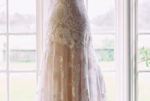 My daughters modelling beautiful elegant Claire Pettibone wedding dresses