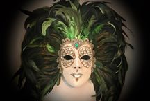 Venetian Feather Masquerade Masks