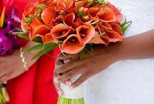 bright wedding flower theme