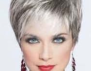 Short grey hair with cream foils