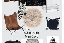 One Room Challenge - Chinoiserie Man Cave / Follow me as I transform our family room into a masculine man cave for my husband, with a bit of Chinoiserie, of course! / by Beth Connolly // Chinoiserie Chic