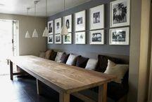 houten bank bij eettafel