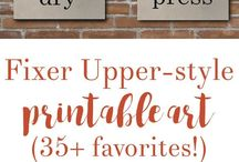 Fixer Upper Decor Ideas & Inspiration / Everyone loves the rustic, farmhouse style of Fixer Upper, so I've created a place to save all the best Fixer Upper-inspired tips, ideas and inspiration!