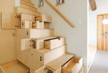 lakásátalakításhoz a galéria lépcsője alatti helykihasználásra
