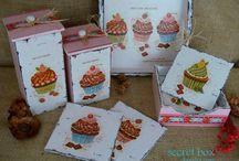 Laminas cupcake / papeles decoupage