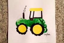 tracteur empreint pied