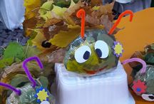 Caterpillar from autumn leaves/Omida din frunze de toamna, activities for kids