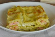 lasagne con pesto e salmone