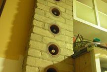 Personal Work / Chimney, wine rack, brickwork