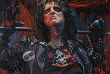 My Rock Stars Art / This is a my paintings of a greatest Rock Stars! Fan-Art, Celebrities, Rock Music, Rock Icons!