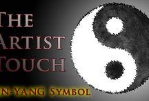 The Artist Touch   Yin-Yang Symbol / Learn how to draw the ancient Chinese symbol representing good and evil… According to a Chinese theory, there are two forces in the universe. 01. The yin, which is a dark swirl and is associated with shadows, femininity, and the trough of a wave hence, is the passive, negative force. 02. The yang, which is a light swirl, representing brightness, passion and growth and hence is an active and positive force.