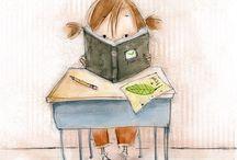 ilustración lectura