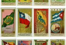 Американские винтажные открытки - Флаги Мира