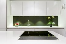 Kitchen Splashbacks / Splashbacks used to once be purely functional, but they can now prove largely influential over a finished kitchen's look, and frequently make quite the statement feature! The splashback has evolved to the extent they are widely available in diverse colours, styles and materials; multiple options to suit all budgets and tastes.