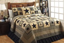 Colonial Star Bedding / Primitive Country Quilt