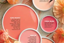 Coral flamingo pink copper blush