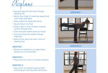 MS Yoga Poses / A board that has yoga poses that can be used for patients with Multiple Sclerosis.