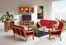 Living Room Furniture / Listed by wood sort. Click on photo to enlarge.  Please note that most models shown in the different woods are also available in other woods.